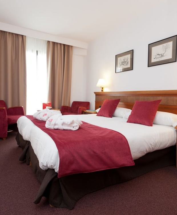 Komfortables Zimmer Hotel Los Geranios