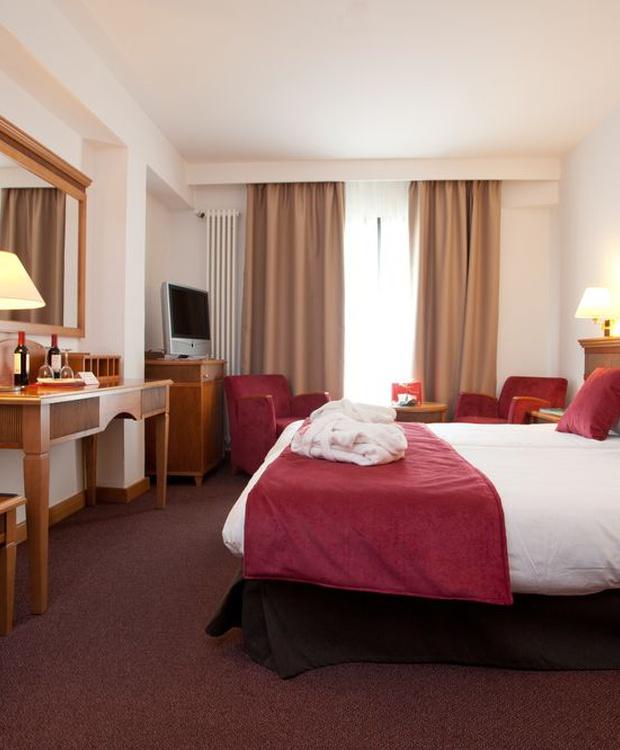 Chambre double confortable Hotel Los Geranios